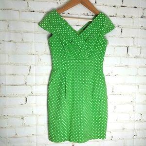 TAHARI ◾ Polka Dots Midi Dress